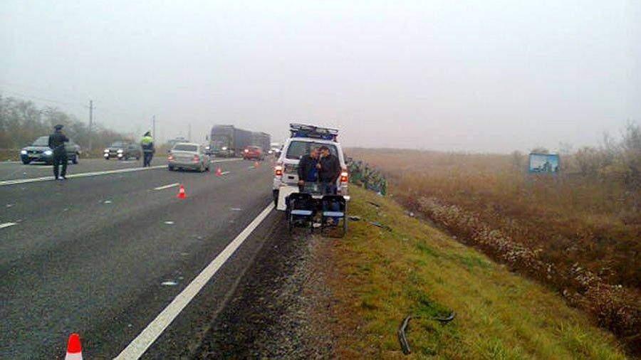 В трагедии сгрузовиками вСеверной Осетии погибли трое человек